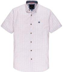 vanguard overhemd fine check wit mf vsis203262/7003
