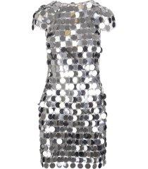 mini dress with mirror effect discs