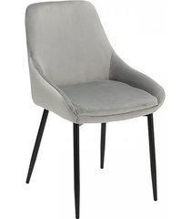 krzesło welwetowe ripi szare