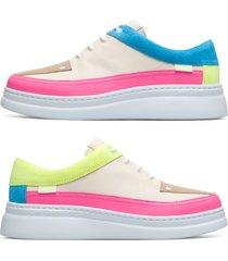 camper twins, sneaker donna, beige/rosa/giallo, misura 42 (eu), k200866-009