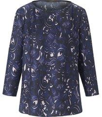 blouse van 100% zijde met 3/4-mouwen van windsor paars
