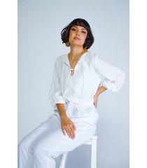 blusa adrissa  en algodon con efecto