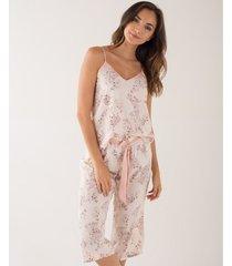 pijama capri estampado floral