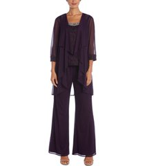 r & m richards 3-pc. embellished pantsuit