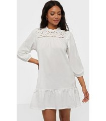 river island long sleeve broidery mix dress loose fit