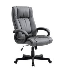 cadeira de escritório presidente giratória baza cinza