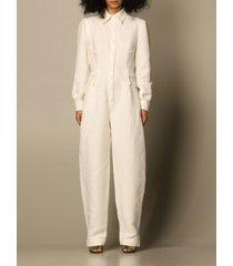 alberta ferretti dress alberta ferretti jumpsuit in linen and viscose