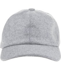 fedeli man light grey cashmere baseball cap