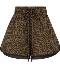 x sarah coleman vertigo motif shorts brown
