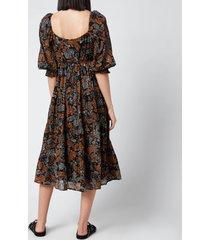 faithful the brand women's darsha midi dress - ankara paisley print - l