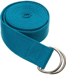 everyday yoga 8 foot strap d-ring peacock cotton/polyester