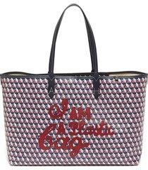 i am a plastic bag slogan embroidered tote bag
