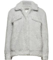 colbie jacket 10430 outerwear faux fur grijs samsøe & samsøe