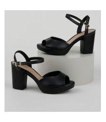 sandália feminina meia pata beira rio preta