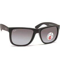 óculos de sol ray ban justin polarizado rb4165l masculino