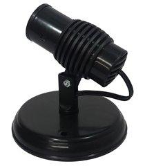 spot de sobrepor para 1 lâmpada poplux preto