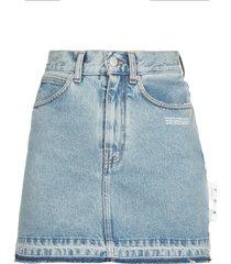 off-white jeans mini skirt