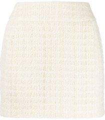 alexandre vauthier tweed mini skirt - neutrals