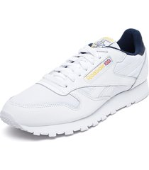 zapatilla cl leather mu blanco reebok