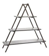 godinger grey wash wood & metal three tier server