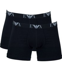 armani boxershort stretch ea 2-pak zwart