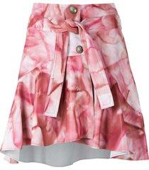 andrea bogosian palace leather skirt - pink