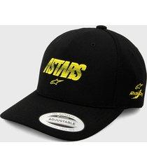gorra negro-amarillo alpinestars angless velo