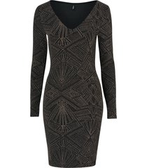 klänning onlshine l/s v-neck bodycon dress