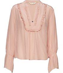 i-escape blouse blus långärmad rosa odd molly