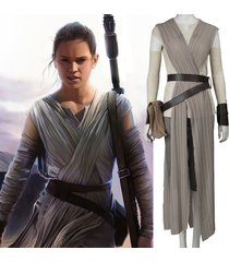 star wars the force awakens rey cosplay costume women rey carnival party dress