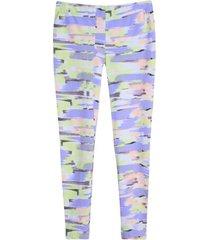 leggings deportivo difuminado tonos pasteles color morado, talla xxl