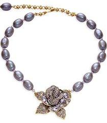 heidi daus women's beaded floral statement necklace