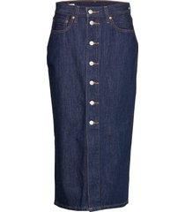 button front midi skirt junipe knälång kjol blå levi´s women