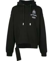 haculla guy and his gun destroyed hoodie - black
