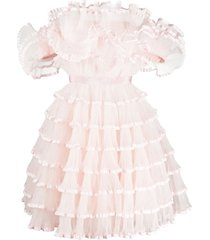 giambattista valli frilly mini dress - pink
