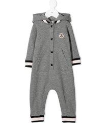 moncler enfant hooded romper - grey
