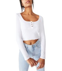 cotton on bella henley long sleeve top