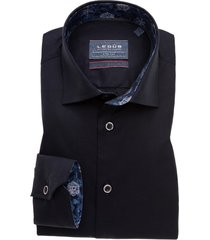 donkerblauw overhemd ledub modern fit