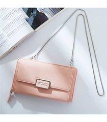 portafoglio donna con cerniera portafogli a catena con tasche incrociate 12 sacchetti portamonete portamonete da 5,5 ''