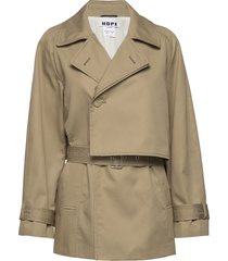 trace jacket trenchcoat lange jas beige hope