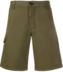 ps paul smith loose fit cargo shorts - green
