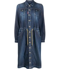 dsquared2 denim shirt dress - blue