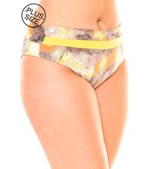 calcinha lehona sunquini amarelo - amarelo/azul marinho/branco/rosa - feminino - dafiti