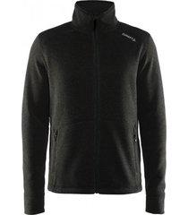 craft vest men noble zip jacket hk fleece black platinum