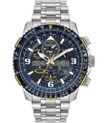 citizen eco-drive men's analog-digital promaster blue angels skyhawk a-t stainless steel bracelet watch 46mm