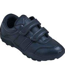 zapatos lineablanca aeroflex negro unicolor lt1640