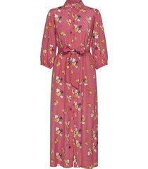 delicate shirt dress maxiklänning festklänning rosa by ti mo