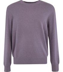 z zegna plain ribbed sweater