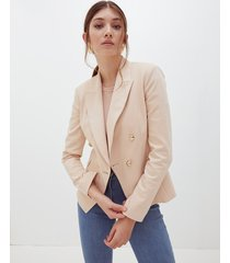 motivi giacca doppiopetto con bottoni oro donna beige