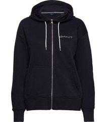 d1. 13 stripes full zip hoodie hoodie trui blauw gant